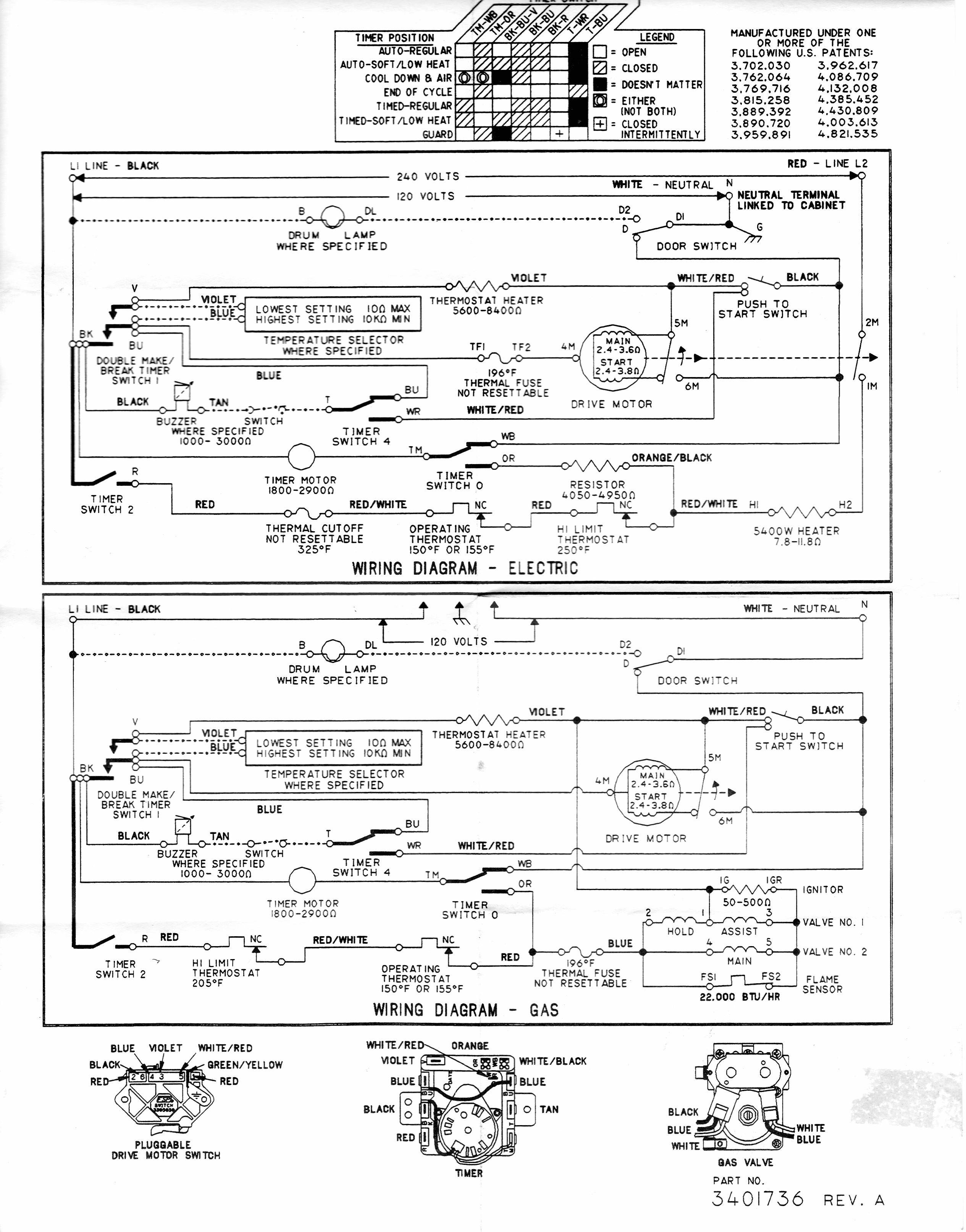 whirlpool gas dryer electrical schematic