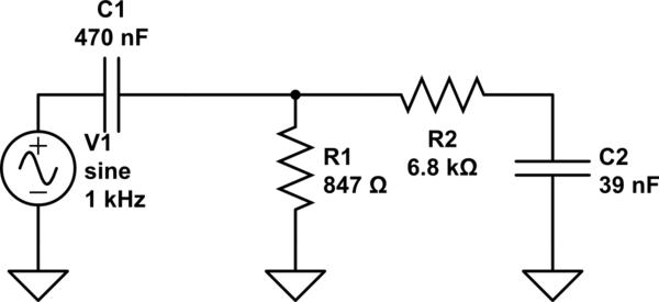 circuitlab simple 6db sub filter