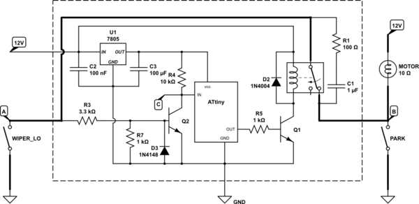 wiper timer circuit for automobiles electronic circuit projects