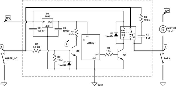 wiper delay schematic