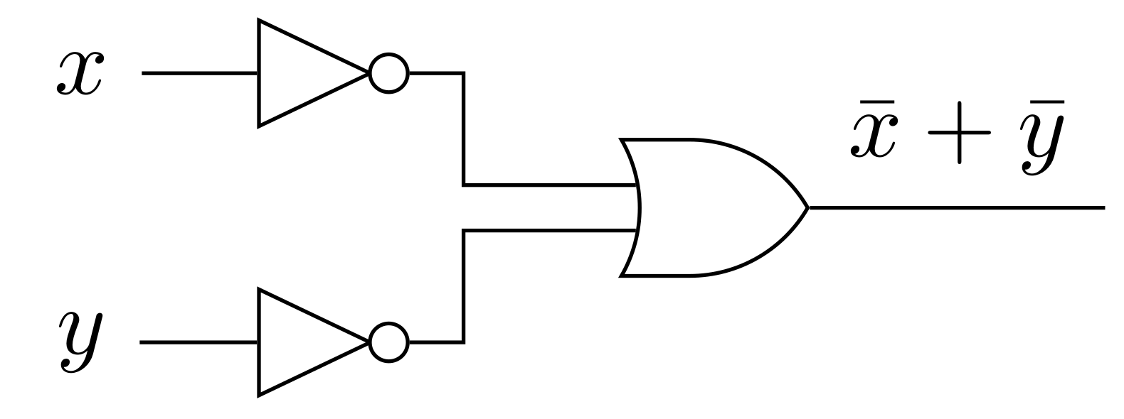 logic gates diagram latex