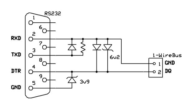 RS232 to 1-Wire interface - need help understanding the schematic
