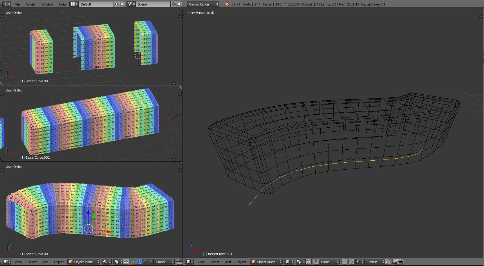 Blender Basic Procedural How To Do Basic Parametric Modeling Onto A Spline