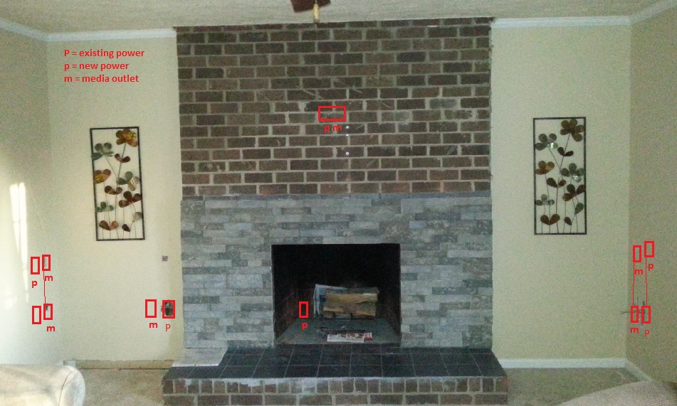 Electrical for built-ins and fireplace insert - Home Improvement