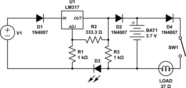 5v regulated solar cell power supply