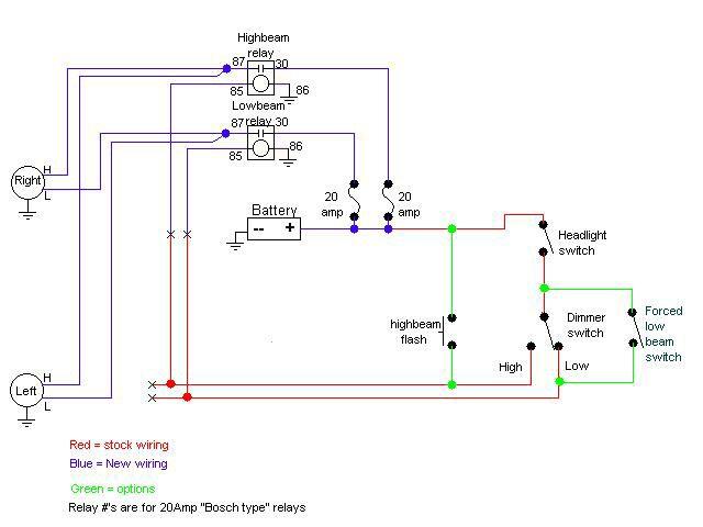 Headlight Relay Schematic Wiring Diagram