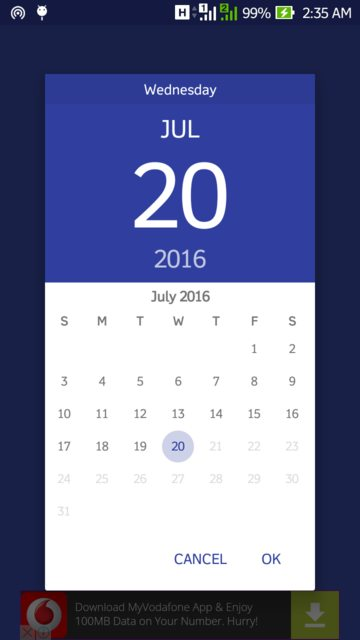 Show year selection first in Android Calendar View - Stack Overflow
