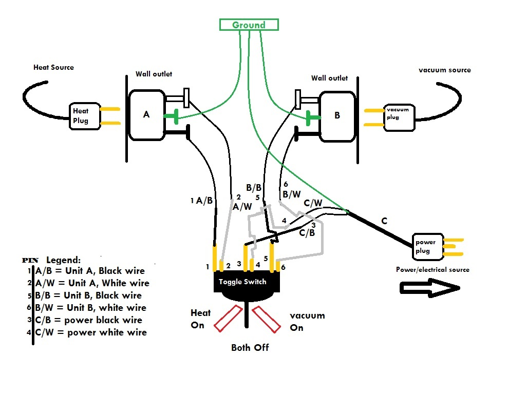 toggle light switch wiring diagram