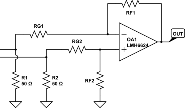 high speed difference amplifier