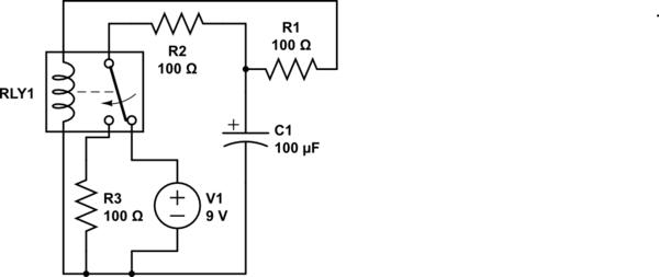 circuitlab relay oscillator