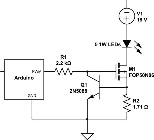 led driver circuit the circuit is a constant current source which