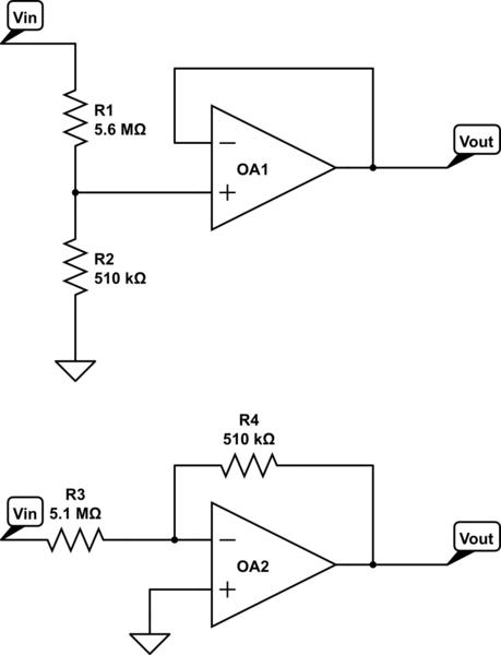 op amp voltage divider circuit