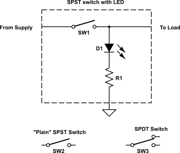 spst switch circuit diagram