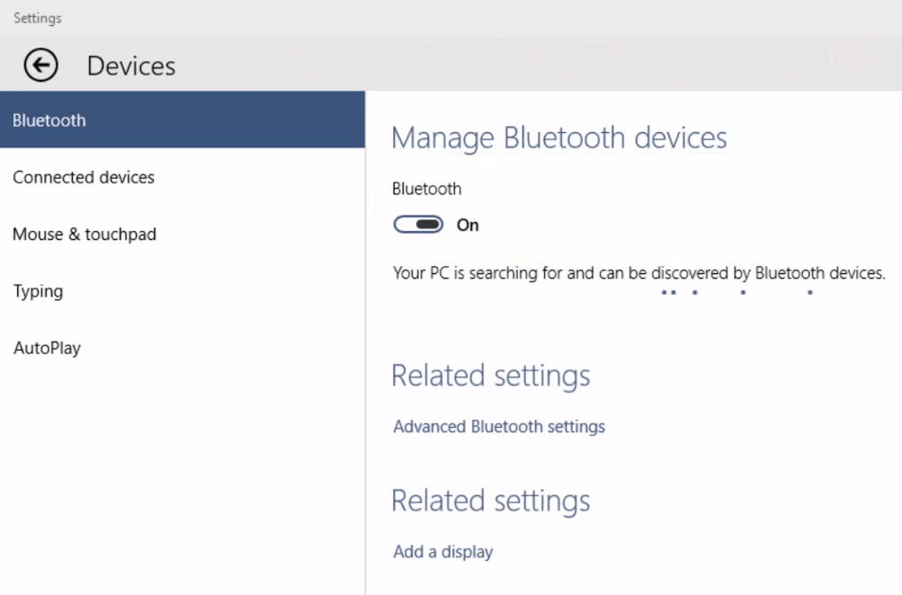 Windows 10 Option To Turn Bluetooth On Or Off Is Missing
