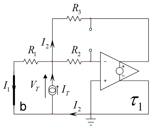 terminals of the triac around according to the equivalent circuit
