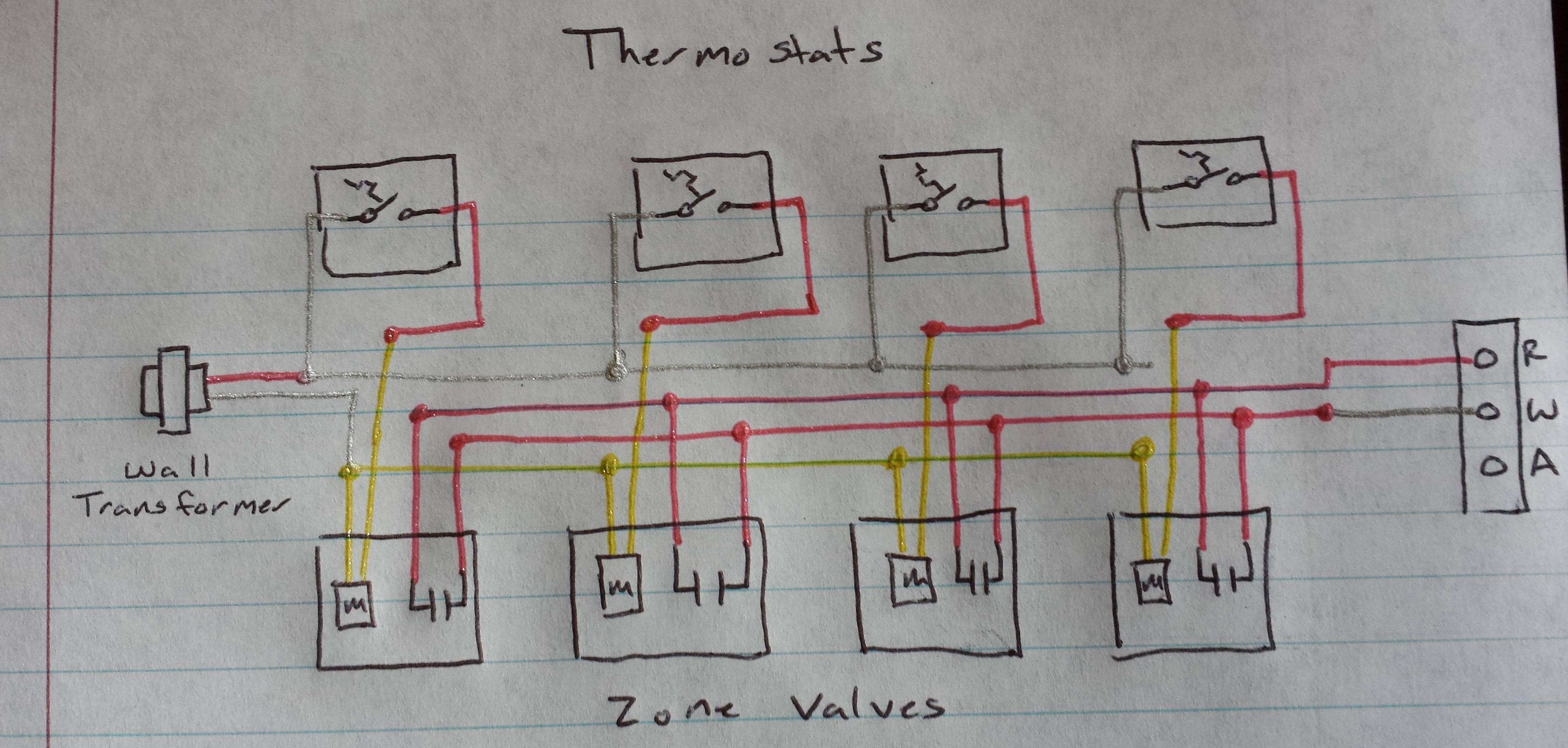 24 volt heat only thermostat wiring diagram