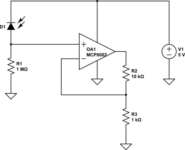 photodiode circuit simulate this circuit
