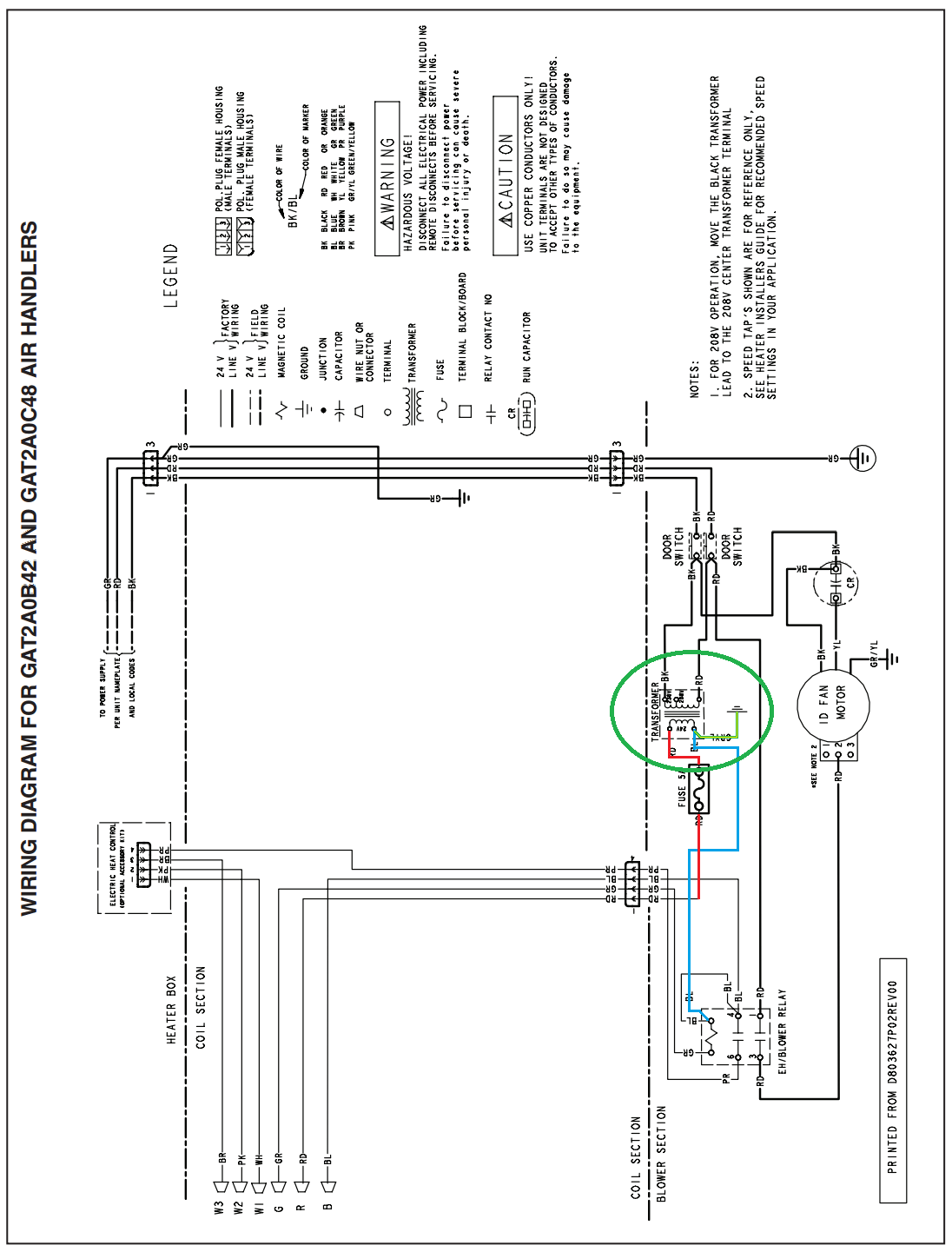 york hvac model e4fh030s06a wiring diagrams