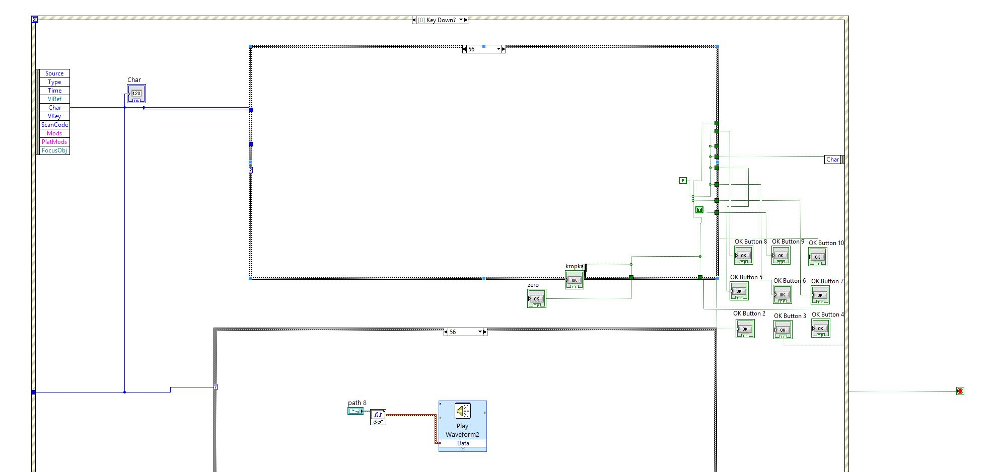 remove block diagram labview