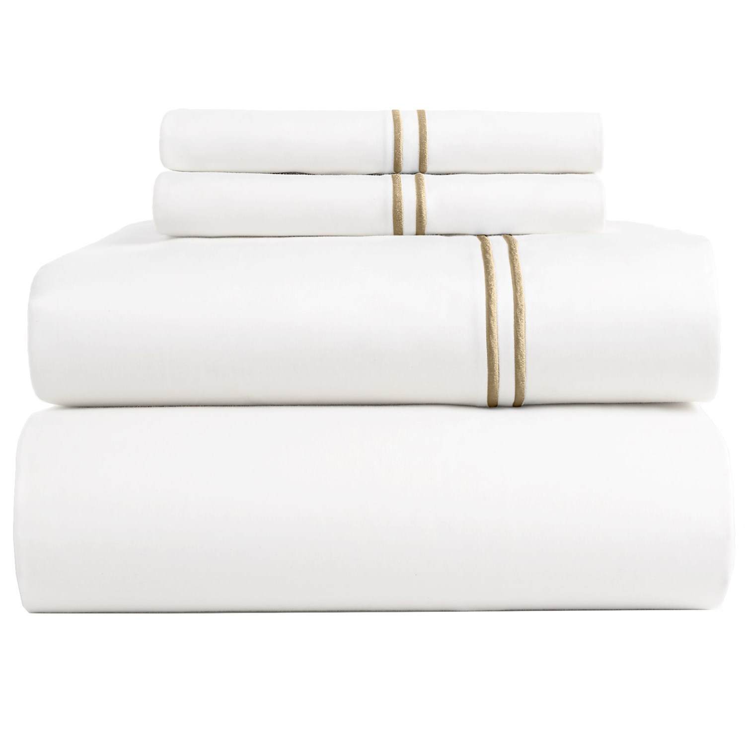 Cotton Sheets On Sale Bambeco Satin Stitch Sateen Organic Cotton Sheet Set