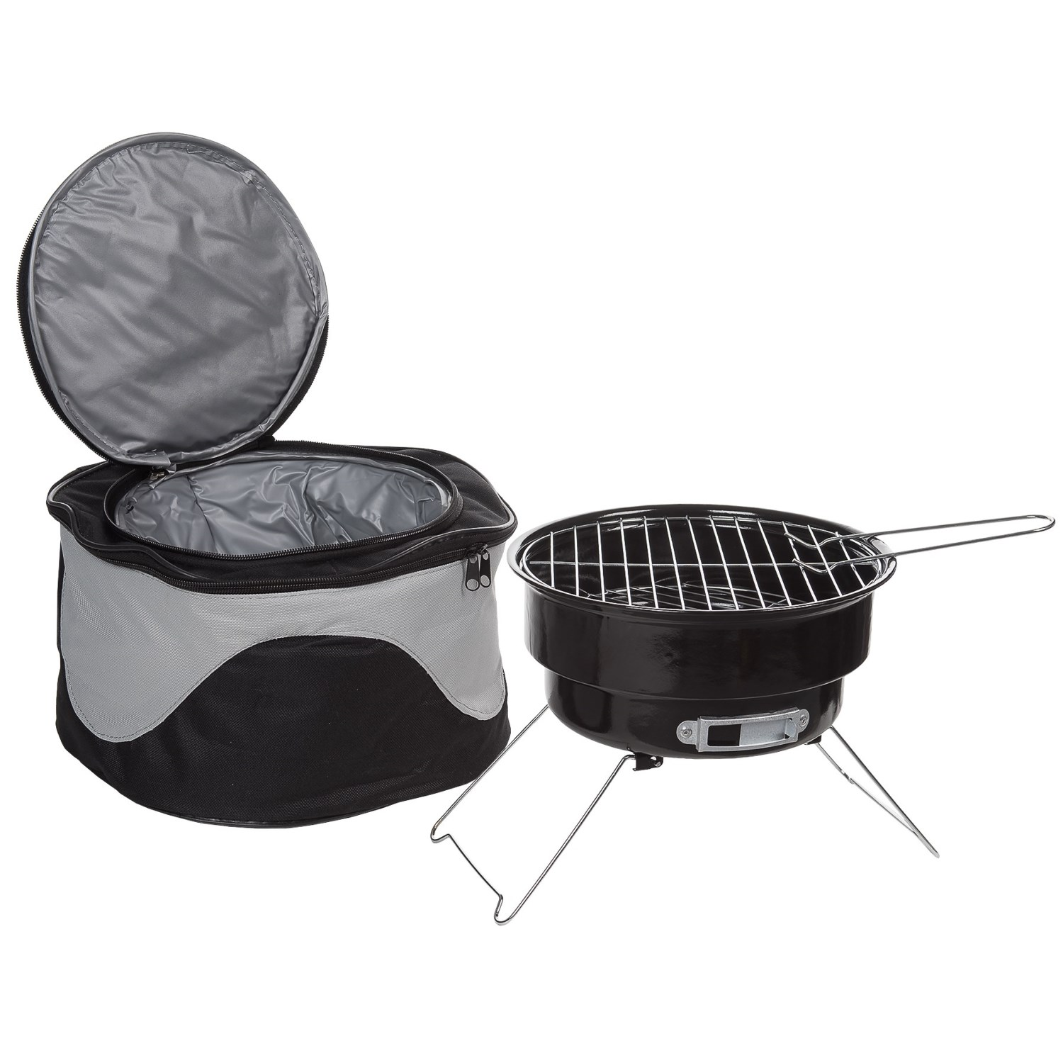 Small Barbecue Grill Big Backyard Portable Barbecue Grill And Cooler Bag Combo