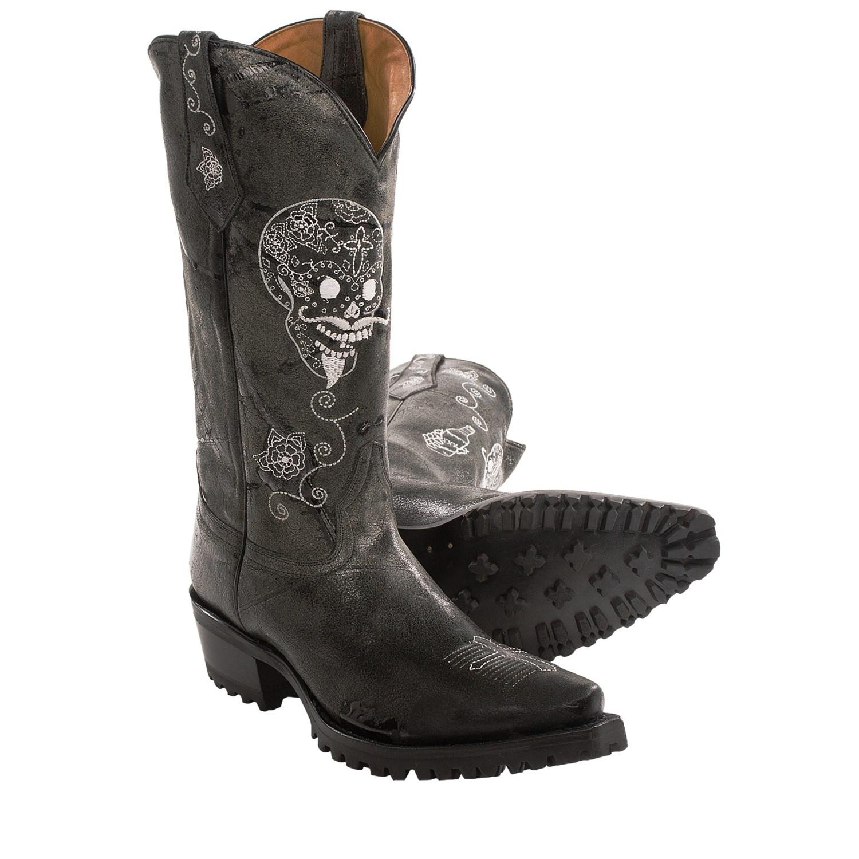 Johnny Ringo Skull Cowboy Boots T Toe For Men Save 40