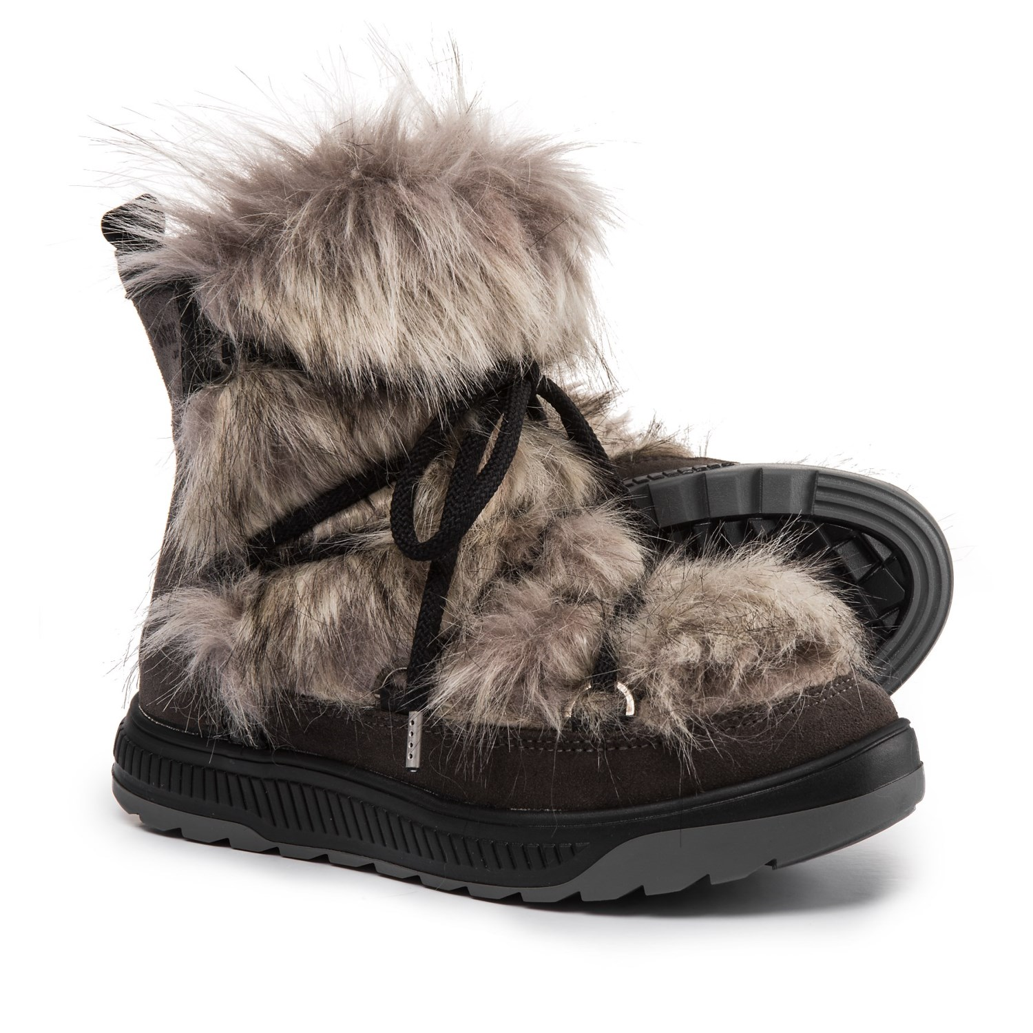 Fur Womens Oscar Sport Short Faux Fur Boots Suede For Women