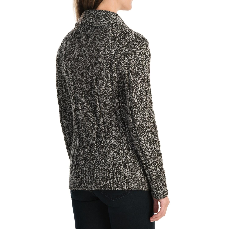 Women'S Shawl Collar Merino Wool Cardigan