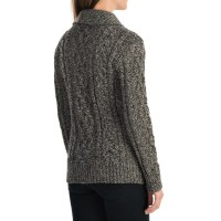 Women'S Shawl Collar Merino Wool Cardigan - Gray Cardigan ...