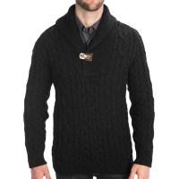 Wool Cardigan For Men - Gray Cardigan Sweater