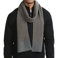 Raffi Knit Cashmere Scarf (For Men) 167JV - Save 84%