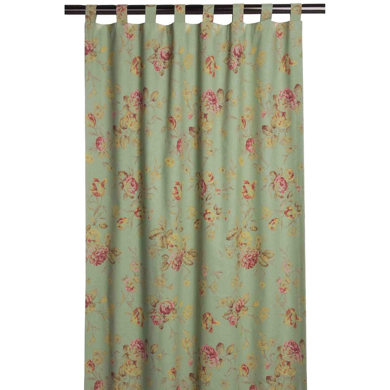 Tab Top Curtains Australia Habitat By Commonwealth Home Fashions Cabbage Rose Curtain