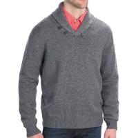 Mens Wool Shawl Collar Cardigan Sweater - Long Sweater Jacket