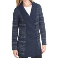 Woolrich Denton Hill Sweater Coat - Lambswool, Shawl ...
