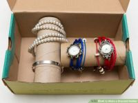 Picture Of DIY bracelet and watch holder in a box