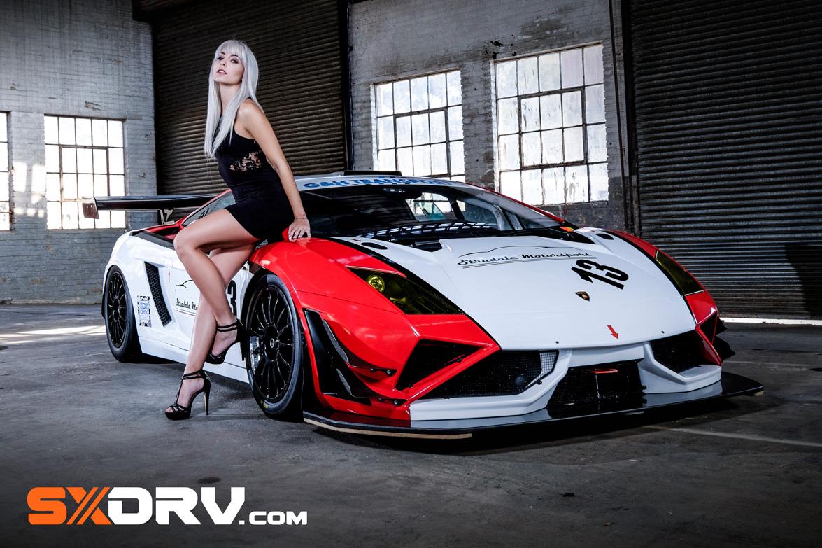 Girl Wallpaper Longitudinal Michelle Koch Lamborghini Gallardo Fl2 Gt3 Exclusive
