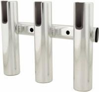 TACO 3-Rod Holder Rack, Brushed Aluminum - F31-3003BSA-1