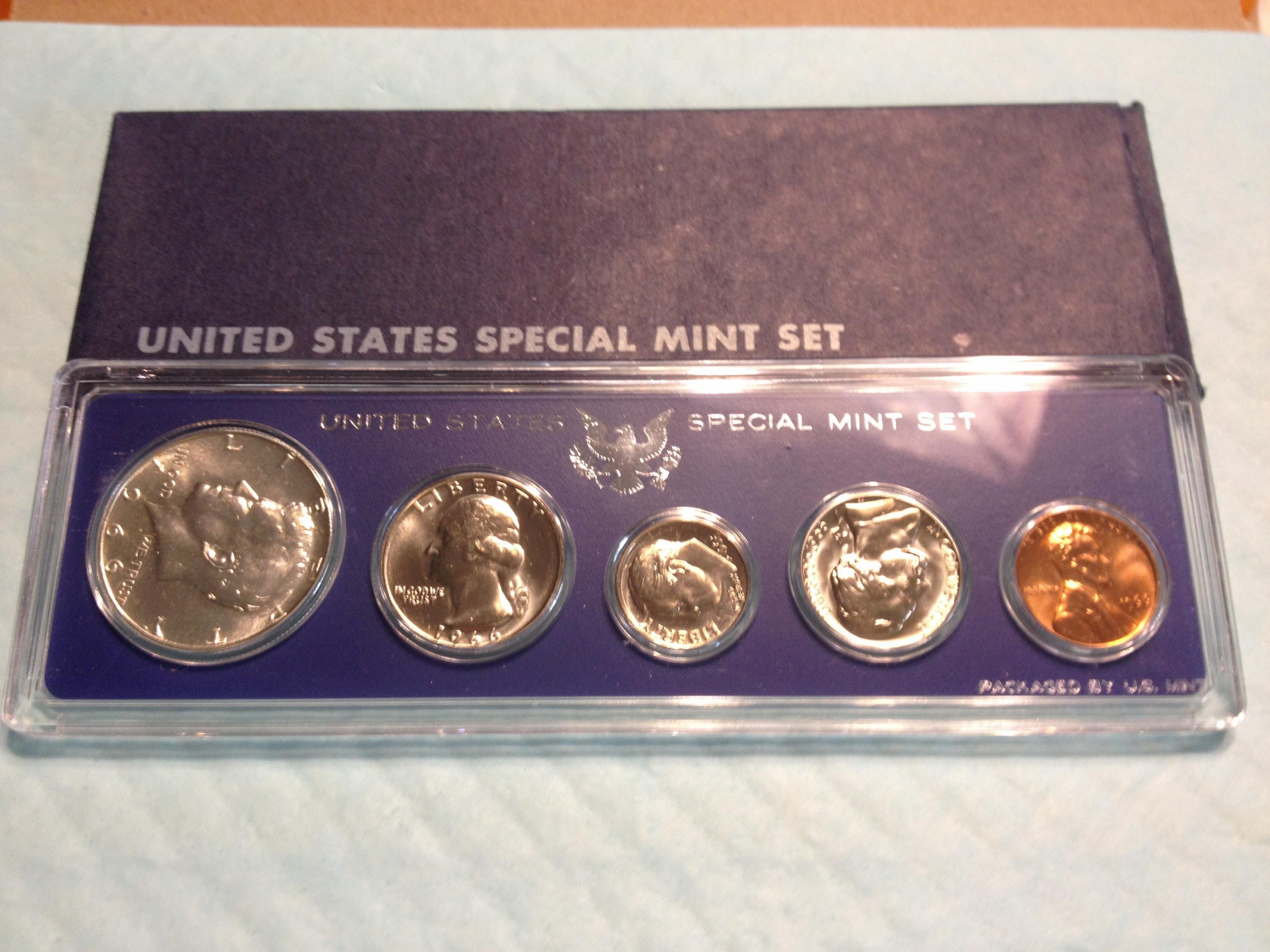 Mint Set 1966 Sms Special Mint Set Item 4a Uncirculated In Mint Boxes Proof Like Finishe