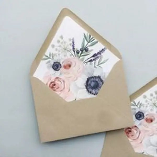 Picture Of fun and pretty wedding envelope liners 31