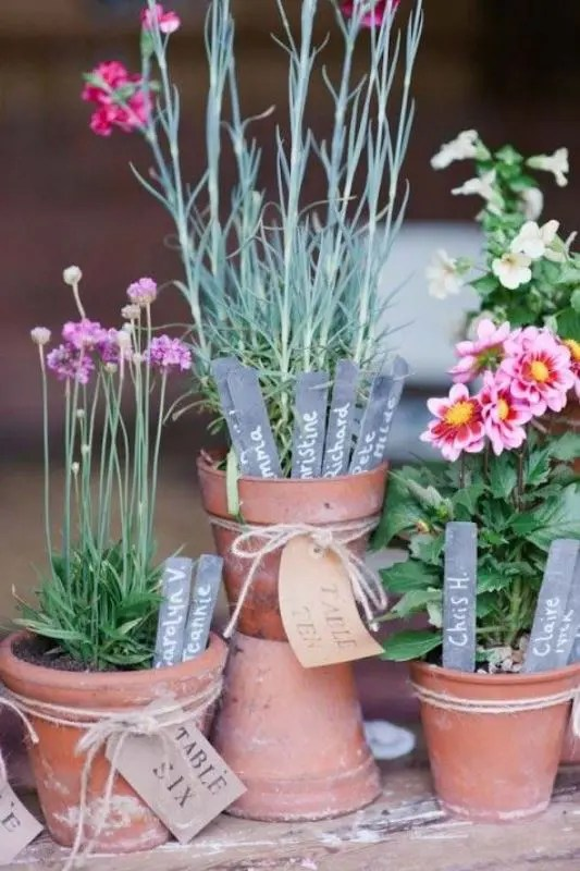 Party Chic How To Use Potted Plants In Your Wedding Decor: 25 Unique