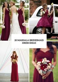 20 Stunning Marsala Bridesmaid Dress Ideas For Fall ...