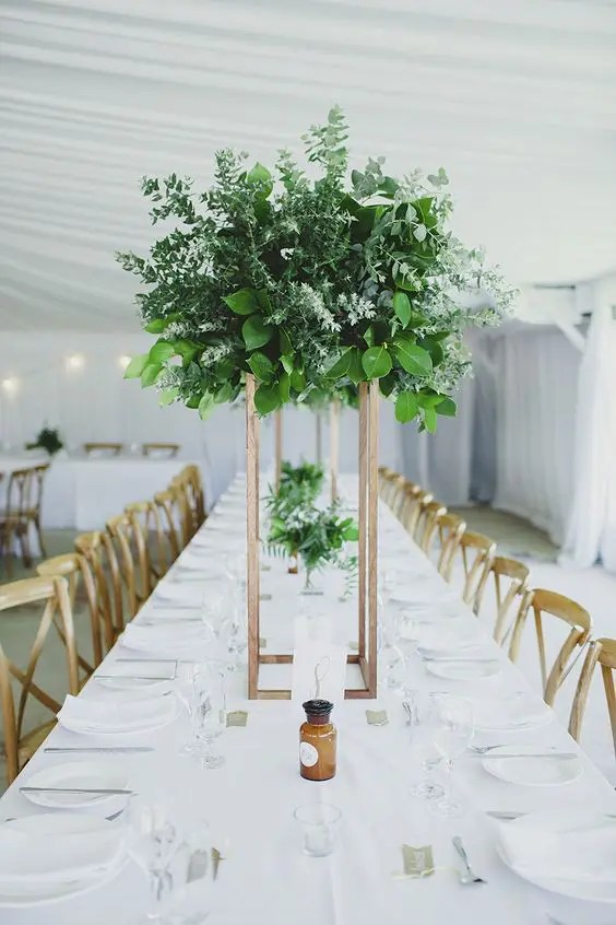 Grand all green centerpiece