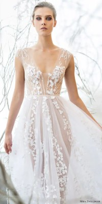 Picture Of ethereal blossom wedding dress with illusion parts