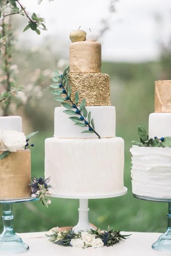 Fall Succulent Wallpaper 36 Trendy And Glam Metallic Wedding Cakes Weddingomania