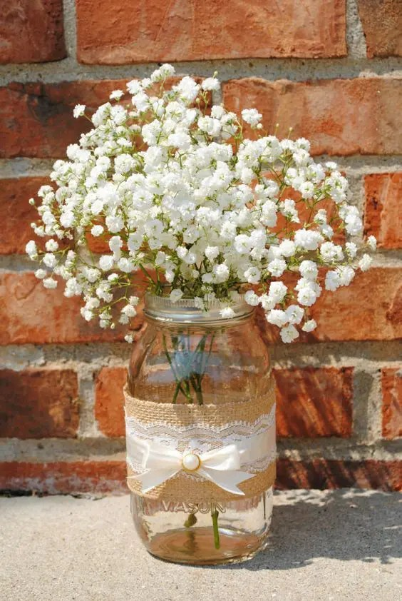Lecheras Decoradas 37 Beautiful Mason Jar Wedding Centerpieces - Weddingomania