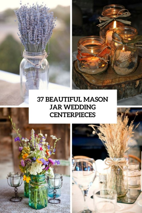 Medium Of Mason Jar Centerpieces