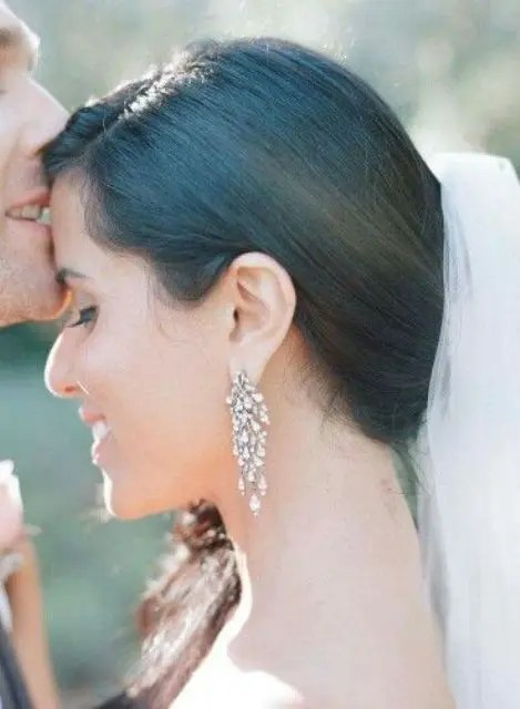 chic chandelier bridal earrings are all you need to look gorgeous