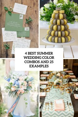 First 4 Summer Wedding Color Combos Silver Summer Wedding Colors Pinterest 25 Examples Cover Summer Wedding Colors