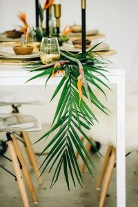 25 Lush Tropical Wedding Table Runners - Weddingomania
