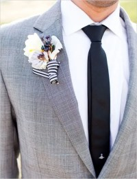 Picture Of Stylish Grooms Outfit Ideas With Skinny Ties